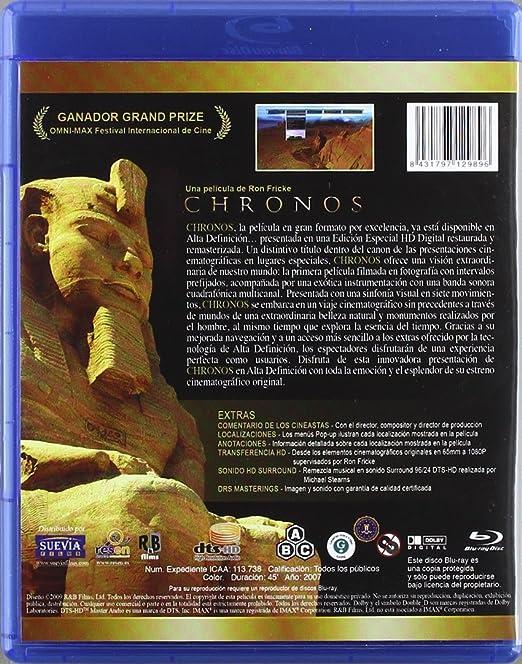 Imax- chronos [Blu-ray]: Amazon.es: Varios: Cine y Series TV