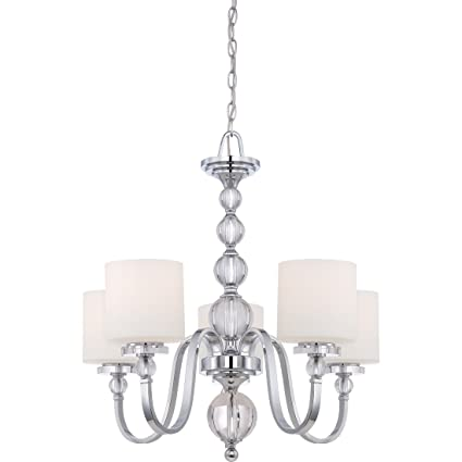 Quoizel dw5005c downtown 5 light chandelier polished chrome