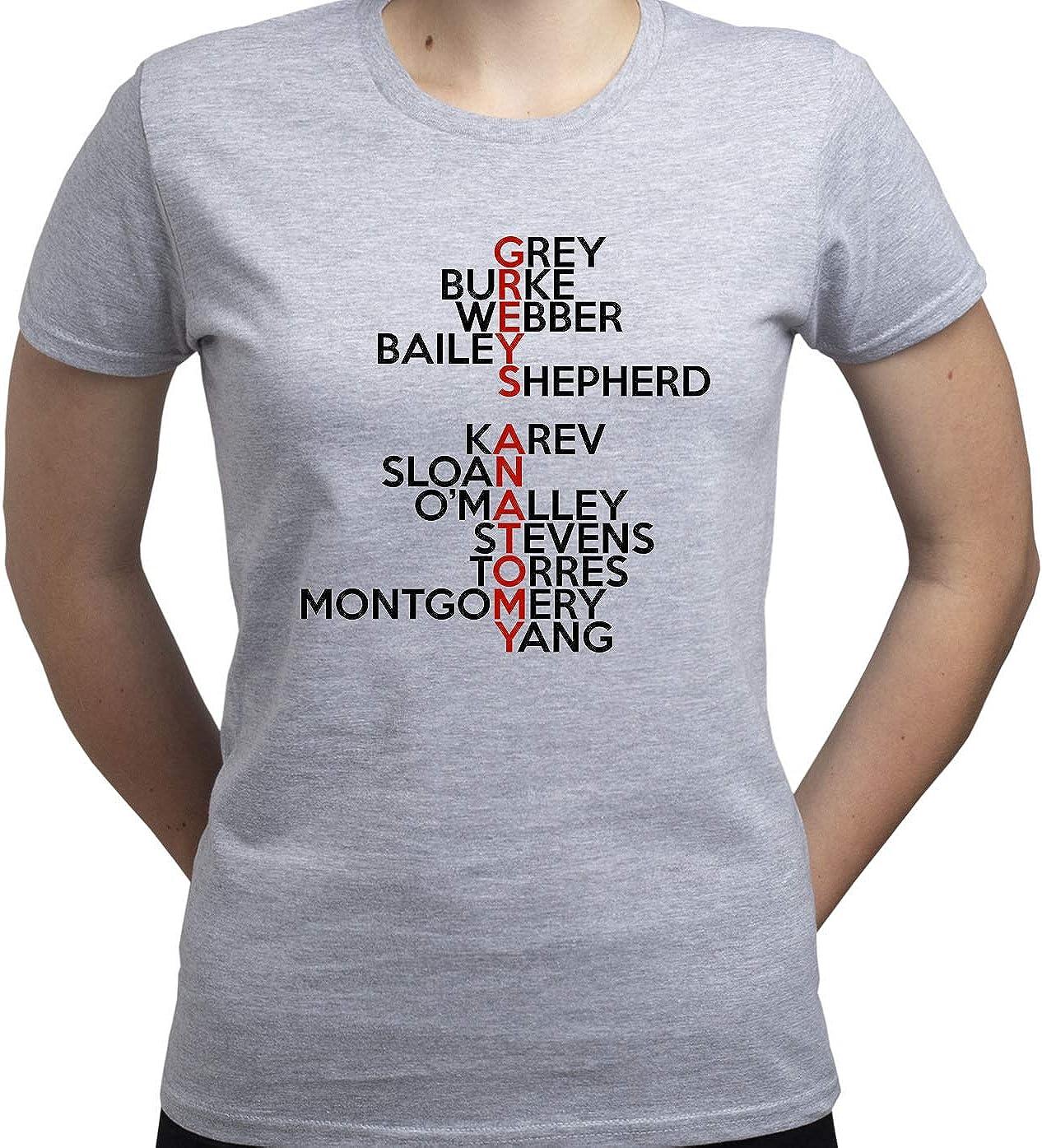 EUGINE DREAM Grey Anatomy TV Characters Camiseta para Mujer