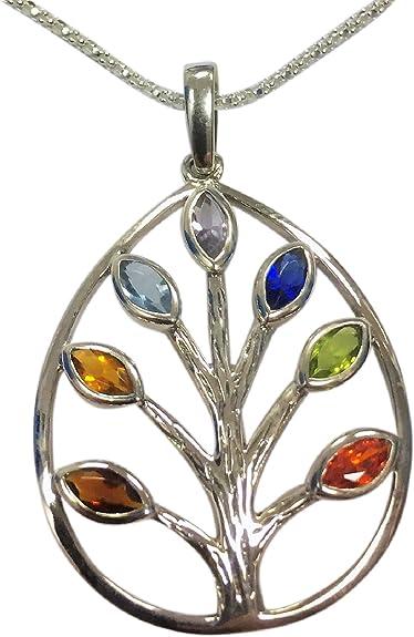 bijoux argent chakras arbre de vie