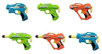 Mini Foam Dart Blasters Multi Pack Party Favors (Set of 6)