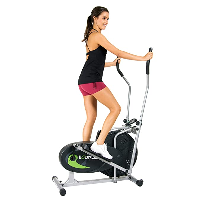 Cuerpo Rider Ventilador elíptica con sistema de resistencia de aire, niveles ajustables y fácil ordenador: Amazon.es: Deportes y aire libre