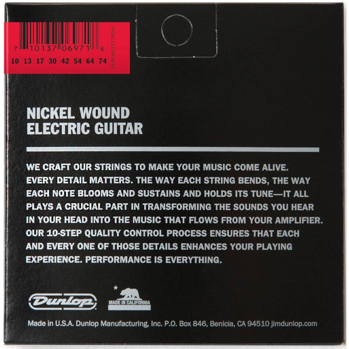 Dunlop DEN1074 mediano níquel Wound Cuerdas para guitarra eléctrica (0.10 - 0.74) 8-strings: Amazon.es: Instrumentos musicales