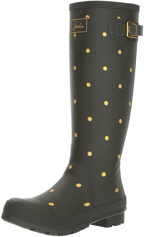 Joules Women's Welly Print Rain Boot B06VTXMRXY 9 B(M) US|Woodland Green/Gold Spot