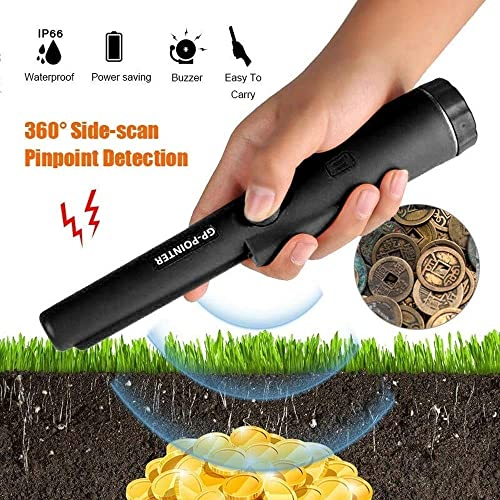 Speedy Panther Handheld Metal Detector Automatic Pinpointing Detector Water Resistant Pin Pointer Probe Underground Metal Detector Black