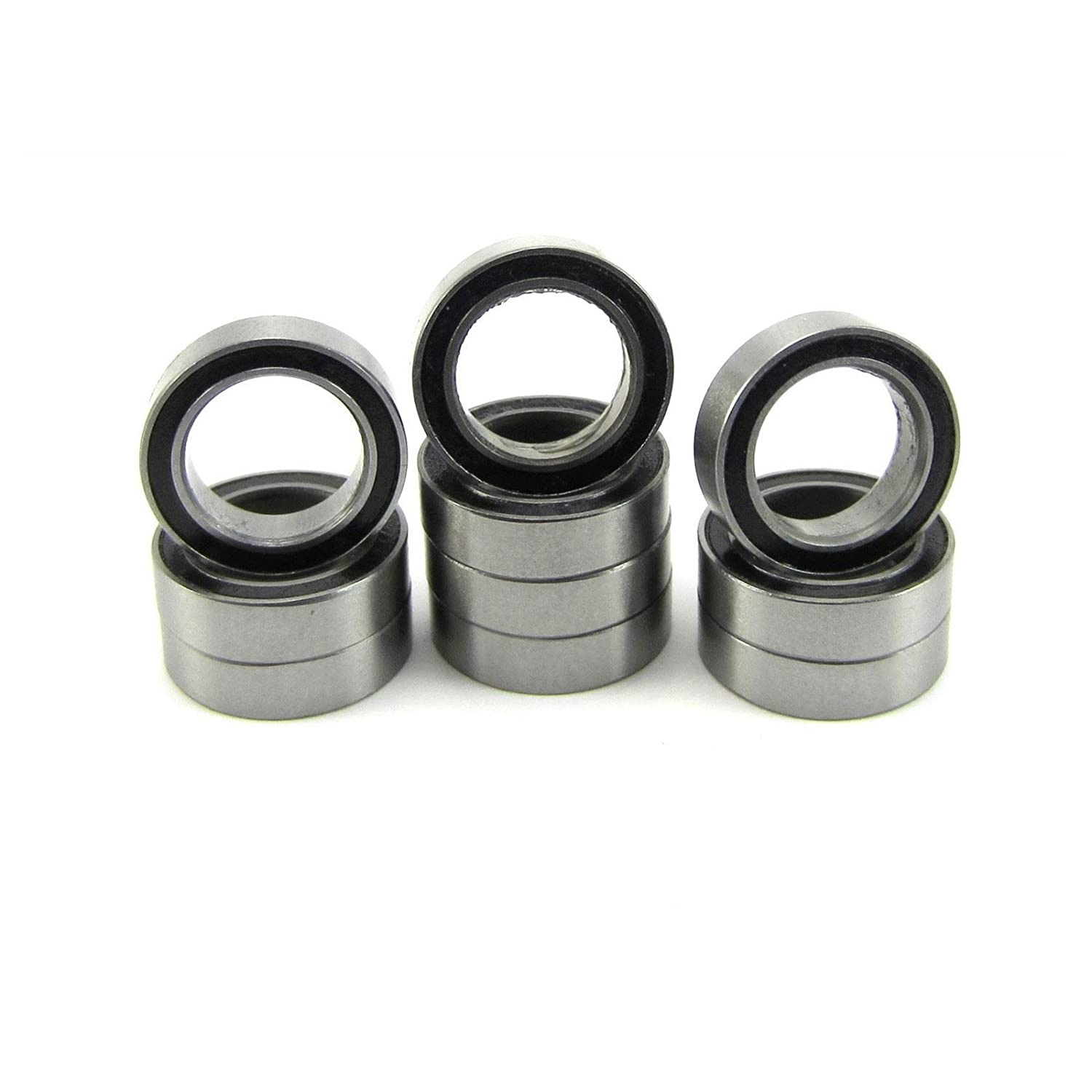 10pcs. 10x15x4mm Precision Ball Bearings Steel ABEC 1 Rubber Seals TRB RC