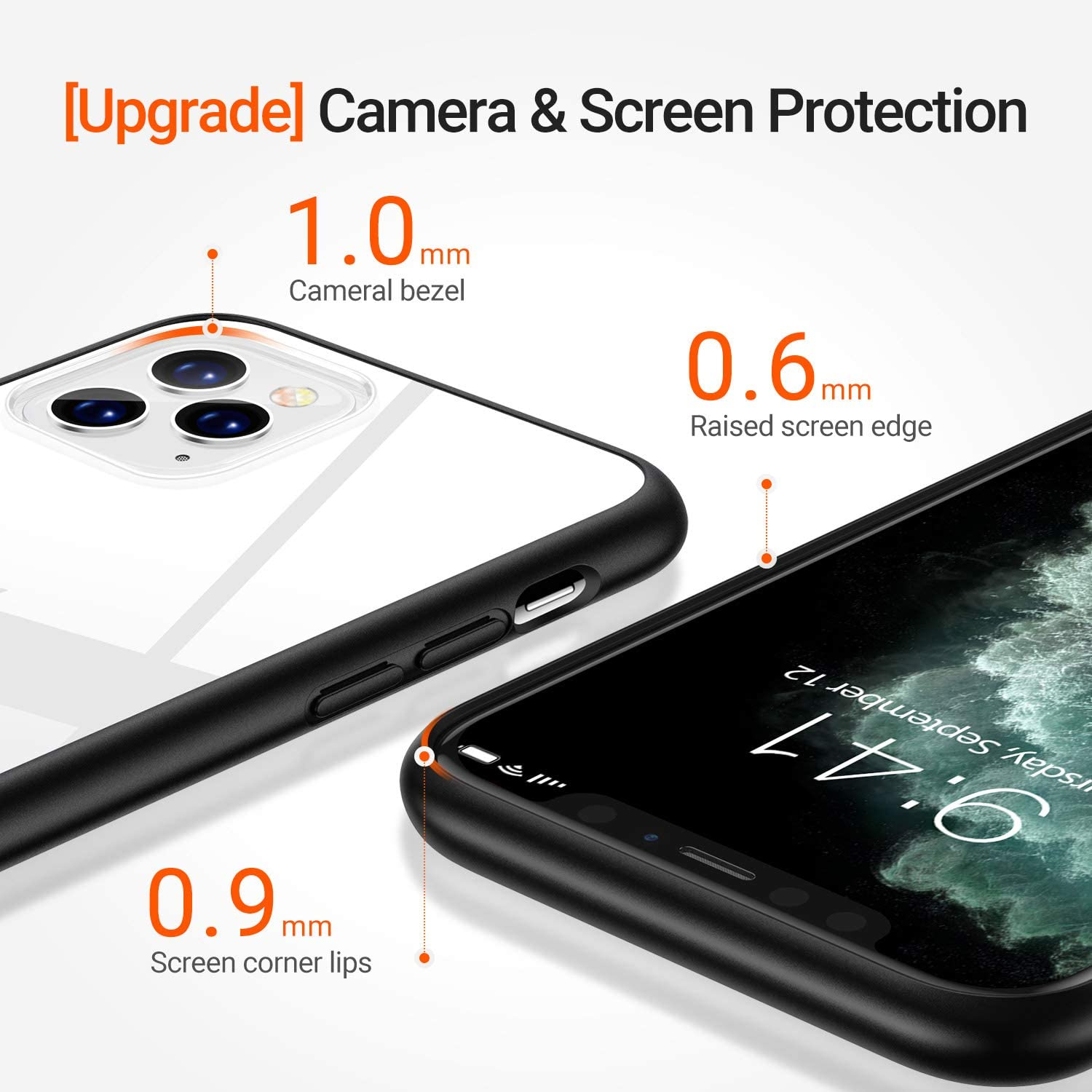 Slim Fit Hard Plastic Shockproof with X-Shock Protection Phone Case for iPhone 11 Pro Max 2019 Clear TORRAS Hybrid Clear iPhone 11 Pro Max Case