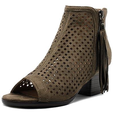 Amazon.com: Ollio - Zapatillas de ante con cremallera para ...