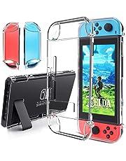 Gogoings Funda Compatible para Nintendo Switch - Transparente TPU Premium Tecnología de Absorción de Golpes Carcasa Protector para Nintendo Switch Console y Joy-Cons Accesorios