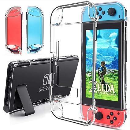 Gogoings Funda Compatible para Nintendo Switch - Transparente TPU Premium Tecnología de Absorción de Golpes Carcasa Protector para Nintendo Switch ...