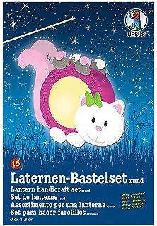 Laternen Bastelset Katze Komplett Set Laterne Basteln