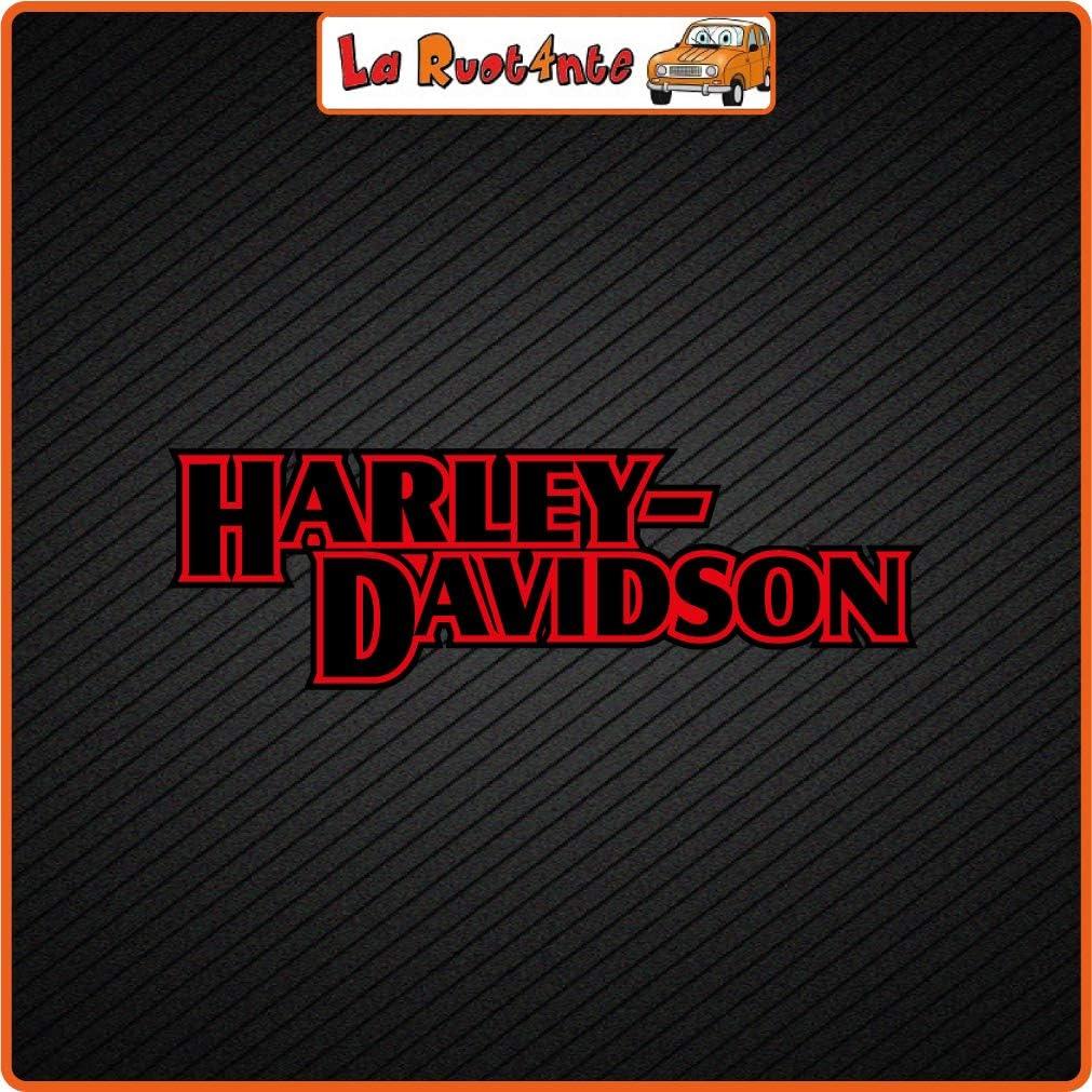100x32 cm in Vinile La Ruotante 2 Adesivi Harley Davidson