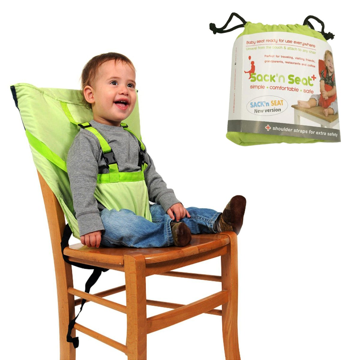 Aurelius Portable HighChair for Travel Baby and Toddler Harness Safety Seat,Perfect for Restaurants/Travelling