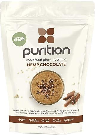 Purition Polvo de Proteína de Chocolate Vegano (500g). Batido para ...