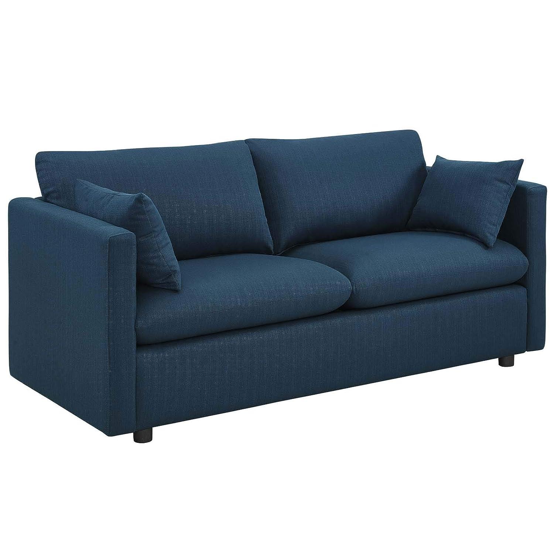CDM product Modway EEI-3044-AZU Activate Upholstered Fabric Sofa Azure big image