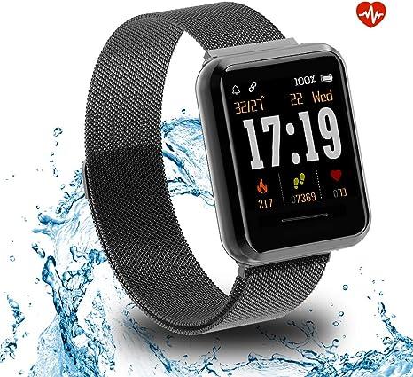 Kospet Smartwatch, Impermeable Reloj Inteligente con Podómetro/Contador de Calorías/Pulsómetro/Monitor de Sueño/Notificación Llamada y Mensaje, Pulsera para Mujere Hombre Compatible con Android y iOS: Amazon.es: Electrónica