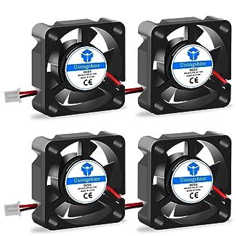 ventola di raffreddamento a 2 pin 24 V CC 4 pezzi con viti accessori per stampante 3D 30 x 30 x 10 mm Ventola per stampante 3D con cuscinetto a ventola Usongshine