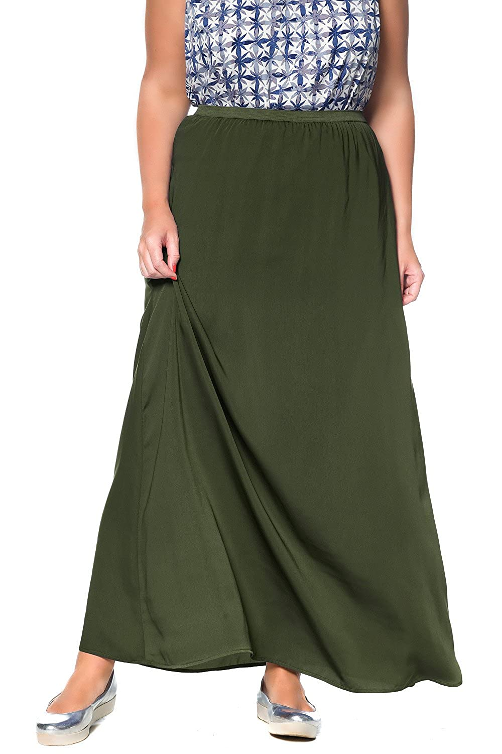 Studio Untold Women's Plus Size Maxi Skirt 704327
