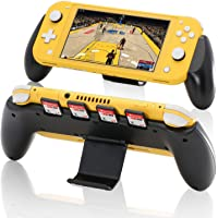 Grip for Nintendo Switch Lite, Ergonomic Hand Grip Case Built-in Kickstand with 4 Game Slots for Nintendo Switch Lite