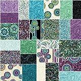 Benartex CIRCLE PLAY Precut 5-inch Charm Pack Cotton Fabric Quilting Squares Assortment Ann Lauer
