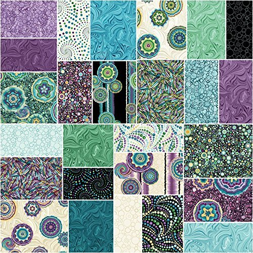 Benartex CIRCLE PLAY Precut 5-inch Charm Pack Cotton Fabric Quilting Squares Assortment Ann Lauer 4336913060