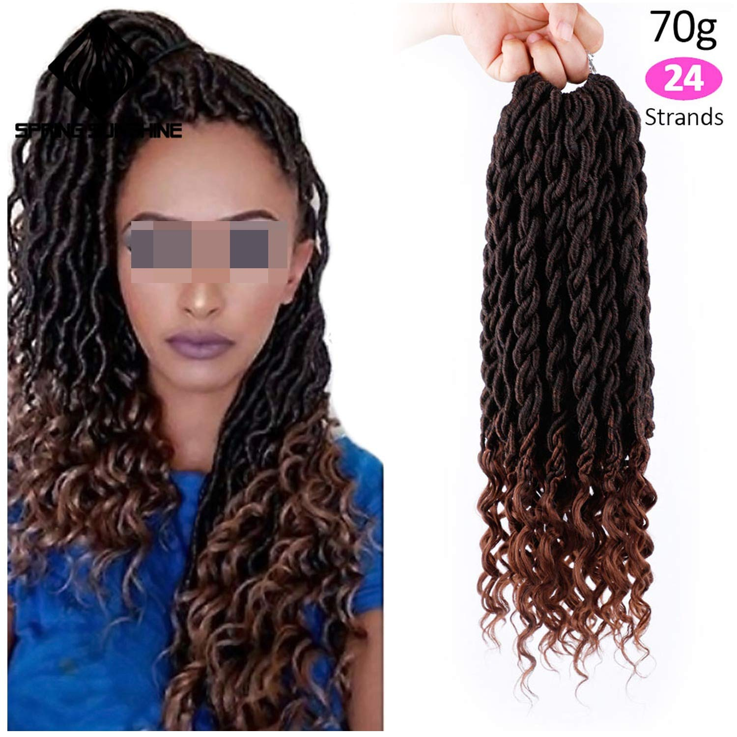 Amazoncom Crochet Hair Extensions Bohemian Faux Curly Crochet