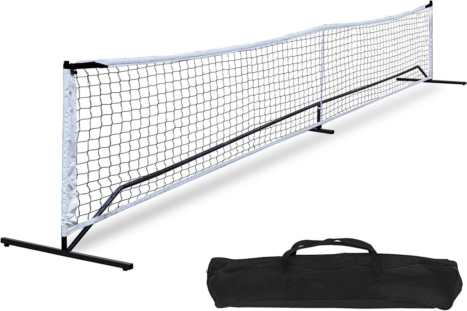 Zeny Portable Pickleball Net Set System With Metal Frame Stand And Regulation Size Net Including Carrying Bag And 4 Ground Stakes Indoor Outdoor Game Arts Crafts Sewing