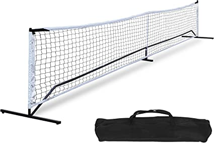 Play In All Conditions Pickleball Nets Portable Outdoor w// Sturdy Metal Frame Fun for Family and Team 22FT x 3 FT Waterproof PE Net in Official Regulation Size Pickleball Net and Carrying Bag
