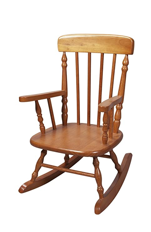 Astounding Gift Mark Deluxe Childrens Spindle Rocking Chair Honey Discontinued By Manufacturer Gmtry Best Dining Table And Chair Ideas Images Gmtryco