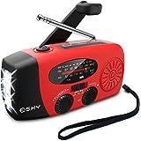 [Upgraded Version] Emergency Radio, Esky 3W LED Flashlight Hand Crank Radio, Self Powered AM/FM NOAA Weather Radio…