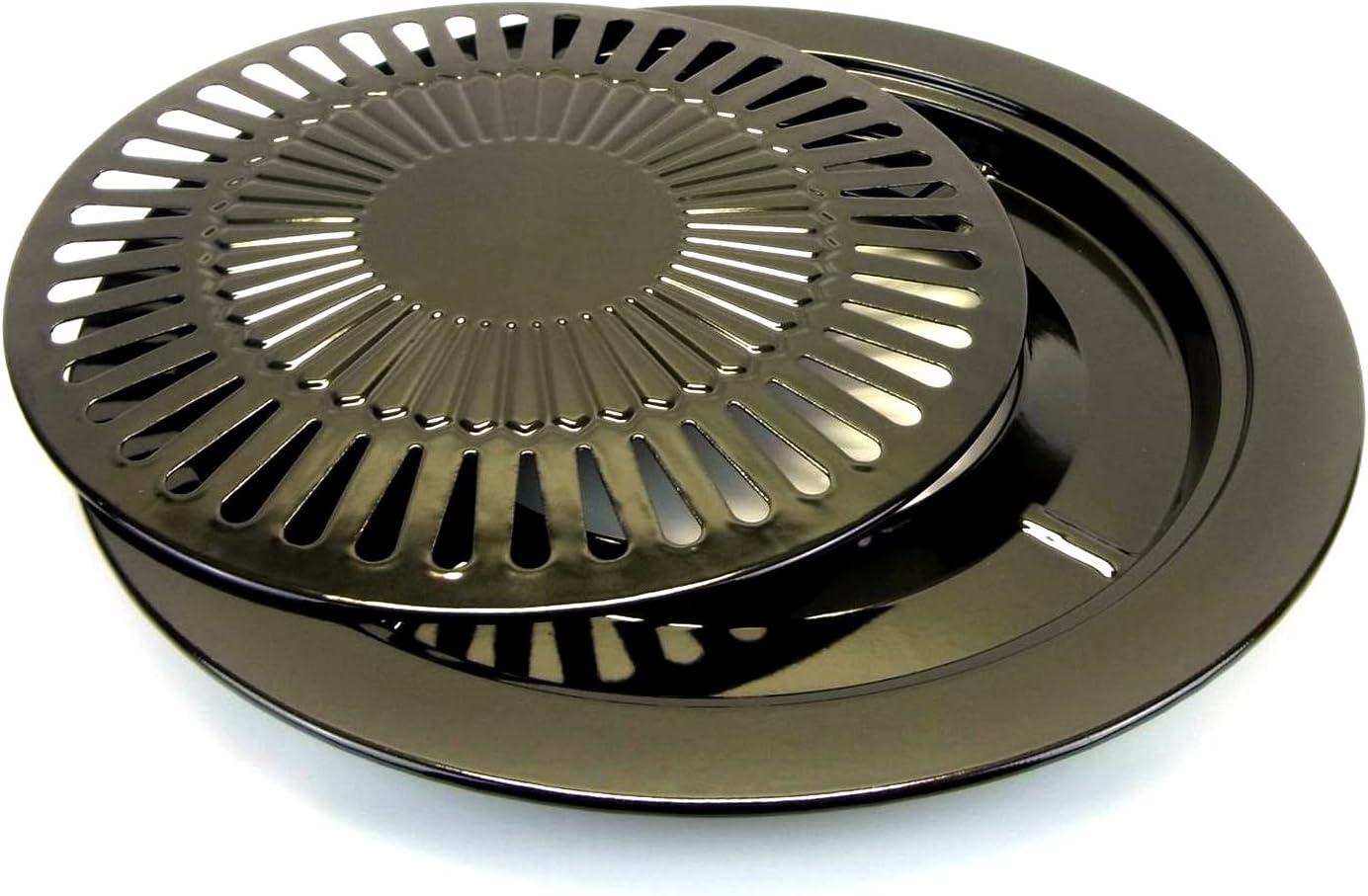 Starlet24 Accesorio de parrilla 2-TLG. Ø 31cm placa de parrilla rejilla para barbacoa camping gas estufa incl. 2en1 herramienta