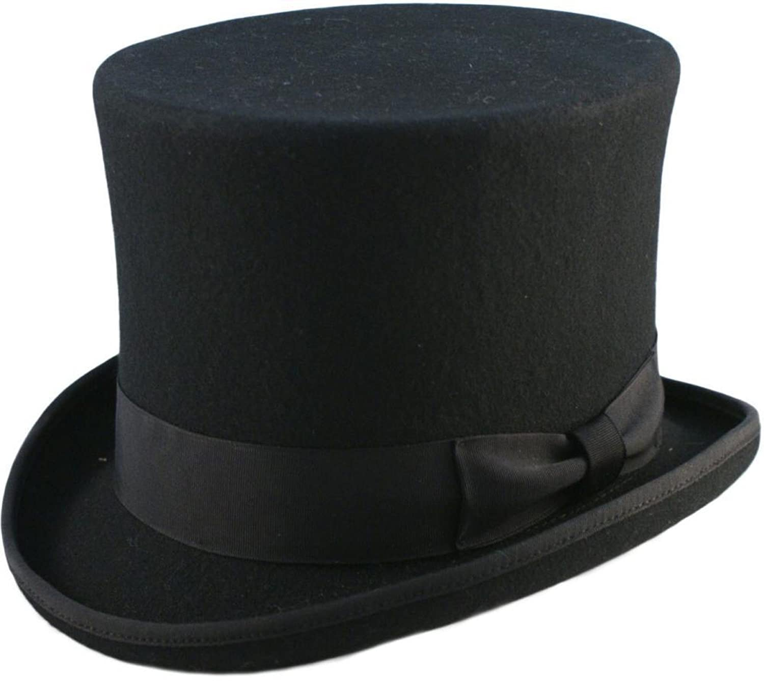 High Quality 6 High Hand Made 100% Wool Satin Lined Top Hat Small to XXL