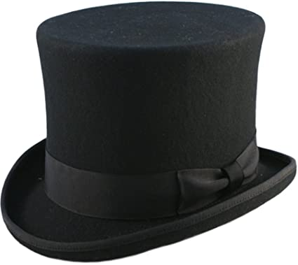 51c4c16bb6c High Quality 6 quot  High Hand Made 100% Wool Satin Lined Top Hat Small to