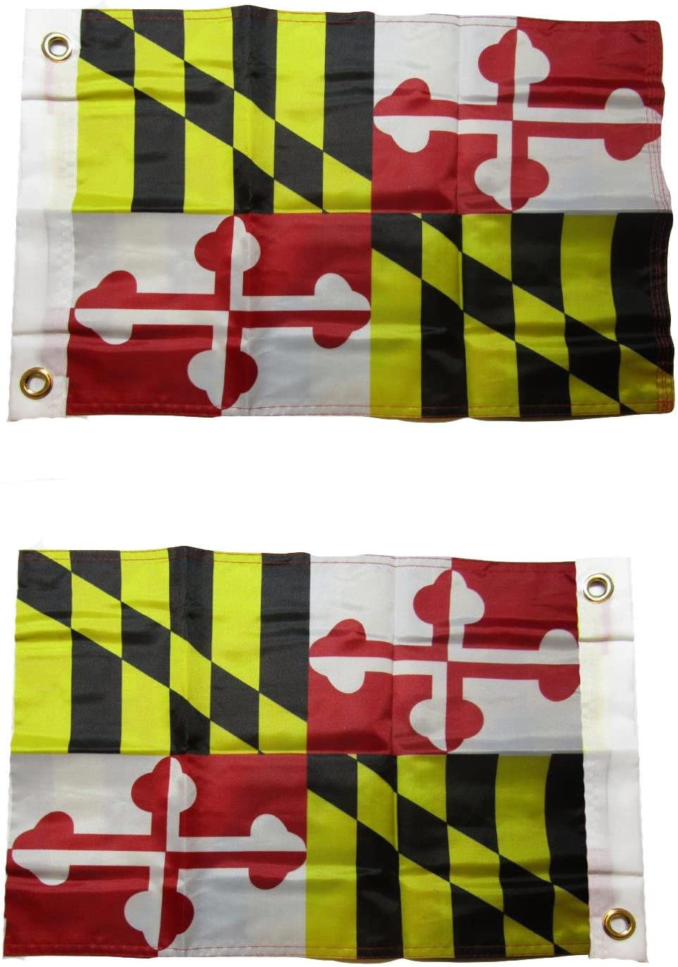 """12x18 12/""""x18/"""" Maryland State MD 100/% Polyester Motorcycle Boat Flag Grommets"""