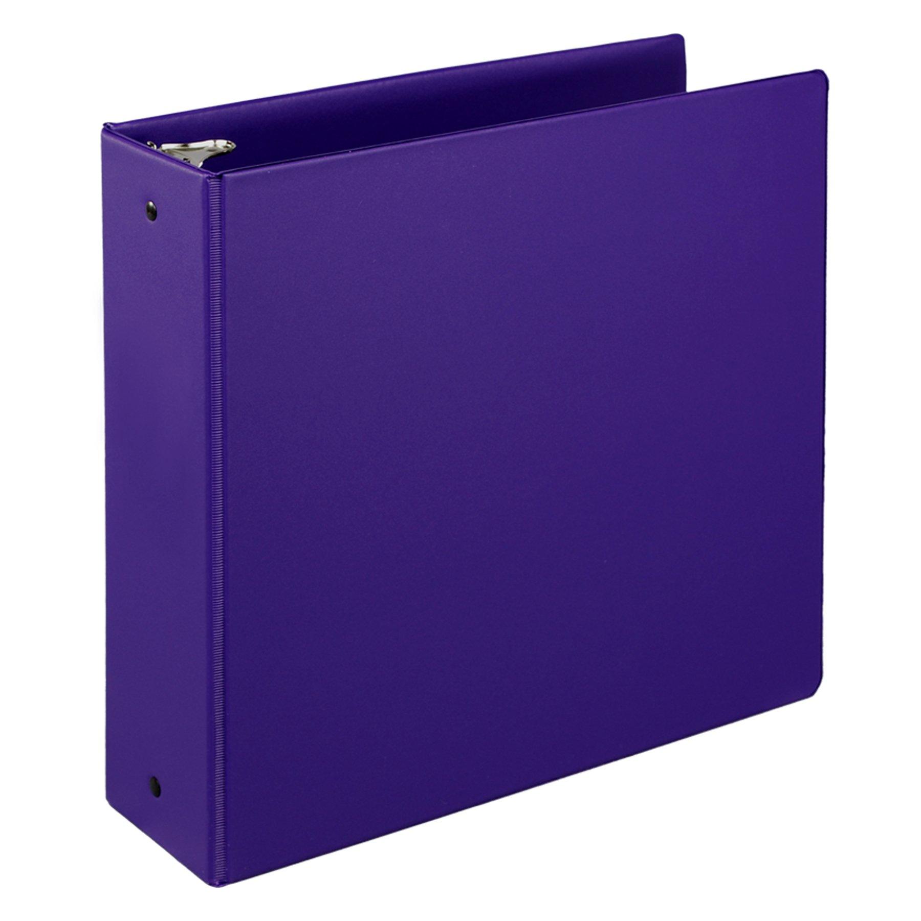 Samsill 3 Inch Value Document Storage 3 Ring Binder , Round Ring, 11 x 8.5 Inches, Purple (11808)