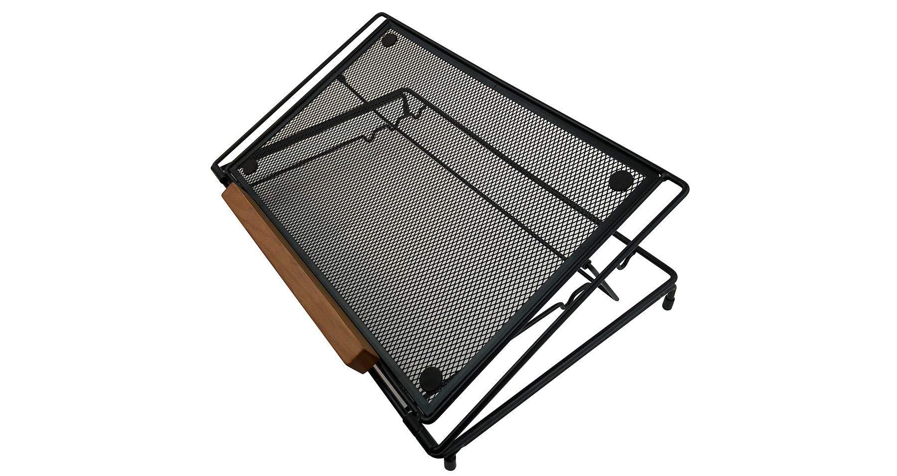 Posidesk POSI211LPBK Adjustable Folding Laptop Stand 3 Angle Positions Mesh Back Heat Ventilation