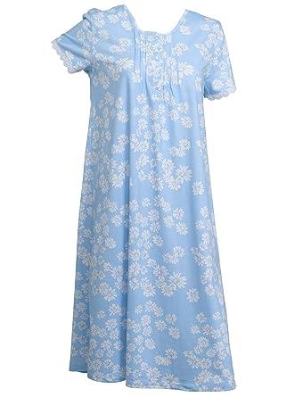 Slenderella Ladies 100% Cotton Daisy Print Nightdress Short Sleeved Flower  Nightie UK 20 22 65c58f35c