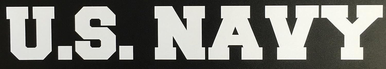 C60161 (White) U.S. NAVY Banner USN Decal Car Truck Window Sticker 7.5x1.3in Check6