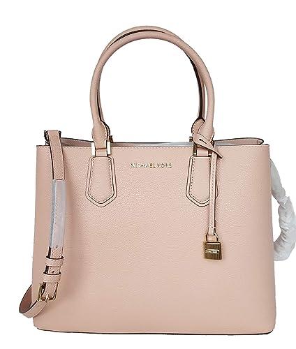 92d14856999a Michael Kors MK LG large Adele pastel pink satchel bag: Handbags ...