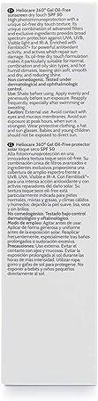 Heliocare 360° Gel Oil-Free SPF 50+ Crema Solar Facial, Fotoprotector Avanzado, Ligero, Pieles Grasas, Tendencia Acneica, Acabado Mate y Tacto Seco, 50 ml