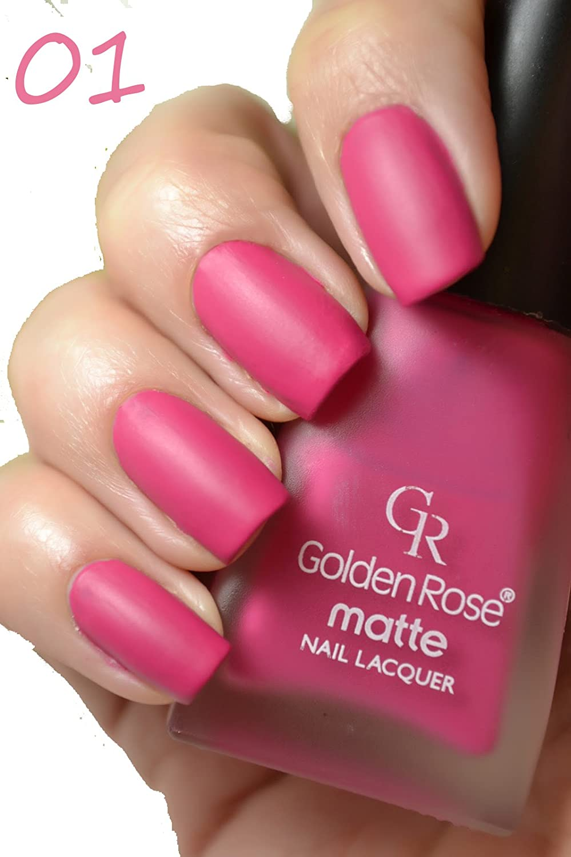 Amazon.com : Golden Rose Matte Nail Polish - 01 Flirt Purple : Beauty