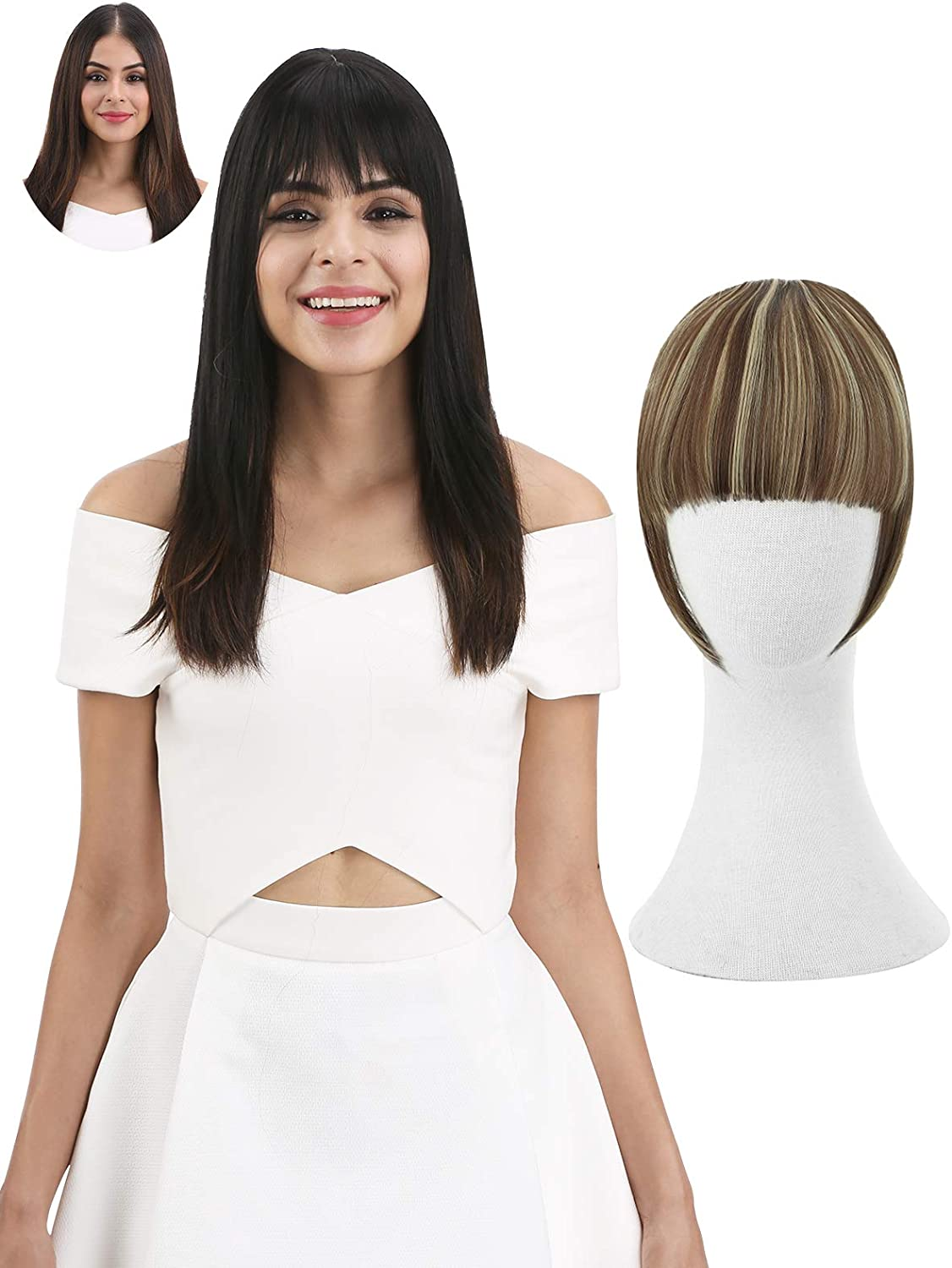 Reecho Fashion One Piece Clip In Hair Bangs Fringe Hair Extensions Hairpieces Color F10 22 Amazon Ca Beauty