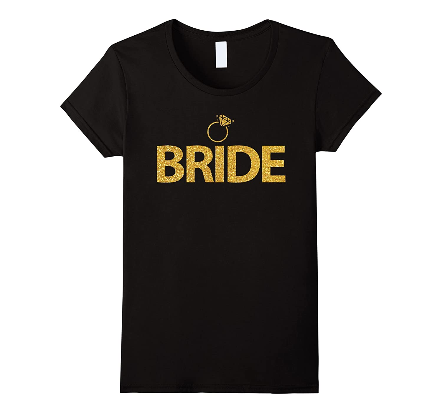Women's Bride Shirts With Gold Ring - Bachelorette Party Shirts-CL