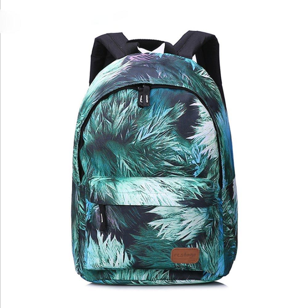 FreediファッションバックパックforスクールボーイズガールズユニセックスMaple Leavesスクールバッグブックバッグデイパック旅行用バッグ M グリーン  グリーン B07DVNRK5H