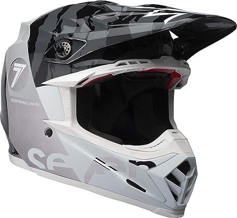 Amazon.com: Bell Moto-9 Flex Seven Zone - Casco de moto para ...