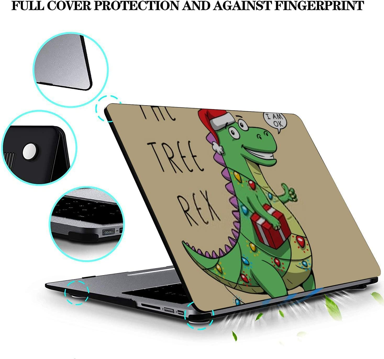 MacBook Pro Case Funny Cartoon Dinosaur Illustration Tee Shirt MacBook Retina 12 A1534Plastic Case Keyboard Cover /& Screen Protector /& Keyboard Clea
