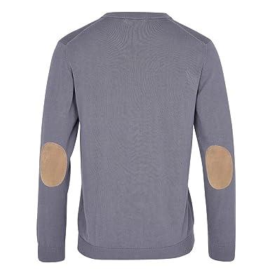 top fashion 3a6ea 3cdba ALLBOW Grauer Herren-Pullover mit Patches, Casual und Business, V-Ausschnitt