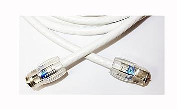 Cable coaxial (15 pies) con conector F conectores – Ultra – blindado RG6 Digital