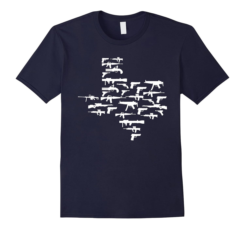 2nd Amendment Shirt - Texas made up of Guns-BN