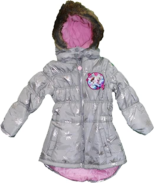 Disney Frozen  Elsa Padded Hooded Winter Coat 7-8 Years